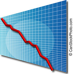 lijn grafiek, 3d