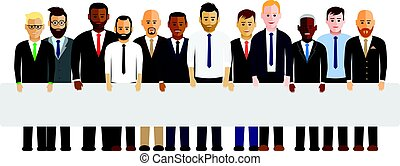 lijn, mannen, zakelijk