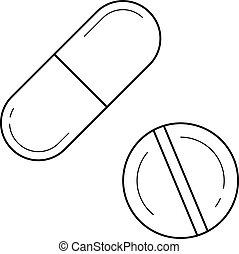 capsule medicatie tekening pillen tien medicatie eps