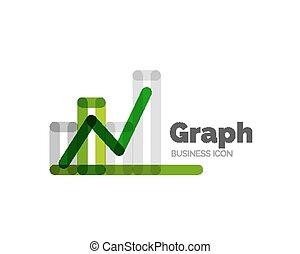 lijn, minimaal, ontwerp, logo, grafiek