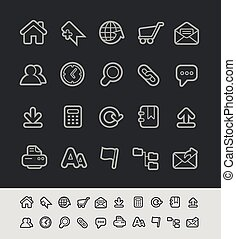 lijn, reeks, black , website, iconen, //