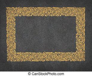 lijn, straat, gele, frame