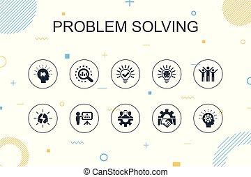 lijn, teamwork, het oplossen, mager, idee, modieus, ontwerp,...