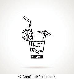 lijn, vector, black , cocktail, pictogram