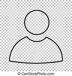 lijn,  Vector, gebruiker, pictogram