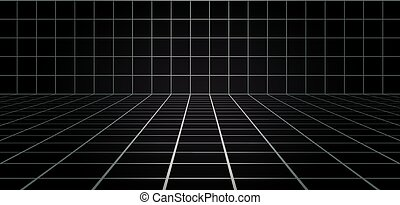 lijnen, aardig, kamer