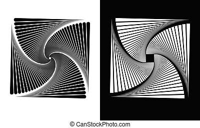 lijnen, abstract, achtergrond, pleinen