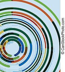 lijnen, abstract, cirkels, achtergrond, geometrisch, circulaire