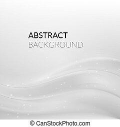 lijnen, abstract, glad, achtergrond, witte , zilver