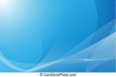 lijnen, achtergrond, abstract, geometrisch, golvend, blauwe