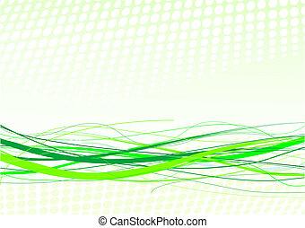 lijnen, achtergrond, groene