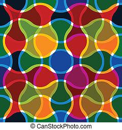 lijnen, golvend, pattern., seamless, kleurrijke