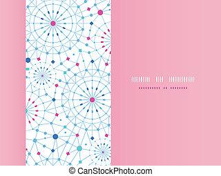 lijnen knippatroon, achtergrond, kunst, cirkels, abstract, blauwe , horizontaal, seamless