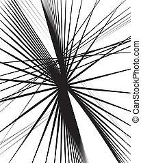 lijnen, kunst, abstract, zoals, moderne, willekeurig, ...