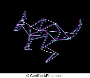 lijnen, visueel, kangoeroe