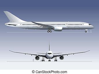 lijntoestel, droom, boeing-787