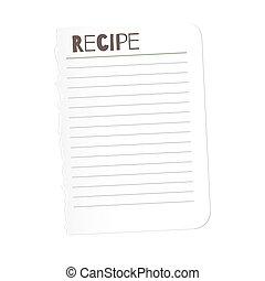 lijst, lege, jouw, illustratie, template., pictogram, vector, controlelijst, ontwerp, klus