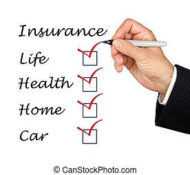 lijst, verzekering