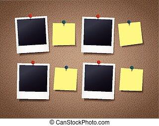 Plank Voor Lijstjes.Lijstjes Foto Plank Bulletin Eps10 Foto Illustratie