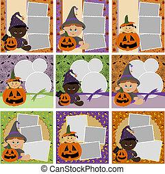 lijstjes, foto, halloween, verzameling