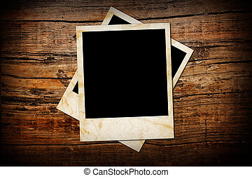lijstjes, foto, hout, oud, achtergrond