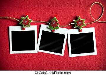 lijstjes, foto, polaroid, kerstmis
