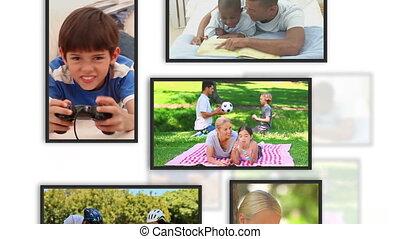 lijstjes, klemmen, gezin, montage