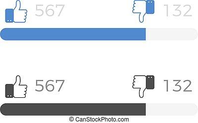 like and dislike counter vector