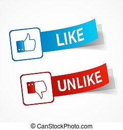 Like and unlike symbols