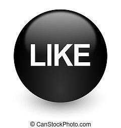 like black glossy internet icon