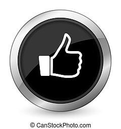 like black icon thumb up sign