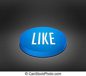 Like Blue Button