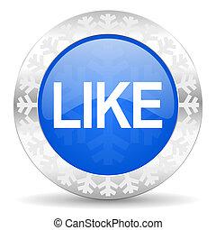 like blue icon, christmas button