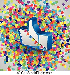 Like button for webpages, vector