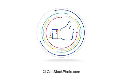 Like button futuristic ai technology concept - Like button ...