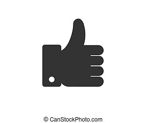 Like button hand icon vector