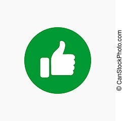 Like button icon illustration