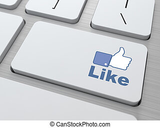 Like Button - Social Media Concept.