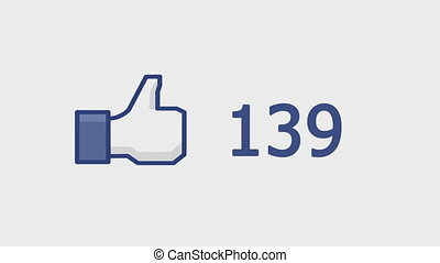 Like button with numbers on social