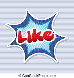like comic icon over blue background vector illustration