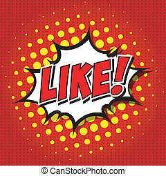 LIKE ! Comic Speech Bubble, Cartoon - Comic Speech Bubble, ...
