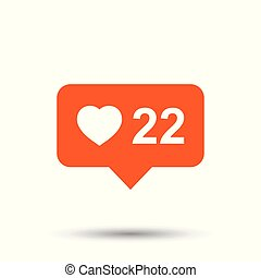 Like, comment, follower icon. Flat vector illustration with speech bubble on white background.