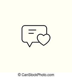 like comment line icon on white background