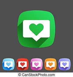 like counter notification flat icon