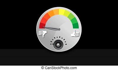 Like Dislike Meter - Footage of a like dislike rating meter.