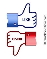 Like Dislike Thumb Up Sign