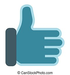 Like flat icon, social media and website