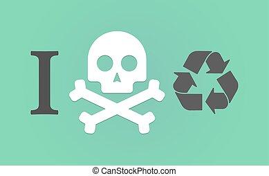 """like"""", geroglifico, non faccia, """"i, segno, riciclare"""