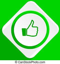 like green flat icon