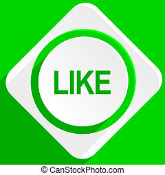 like green flat icon